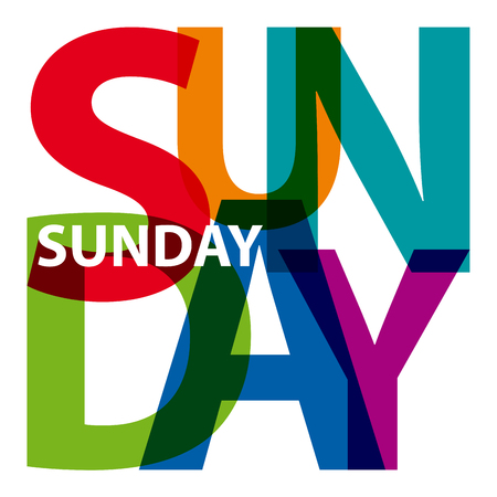 sunday: Vector sunday. Broken text Illustration