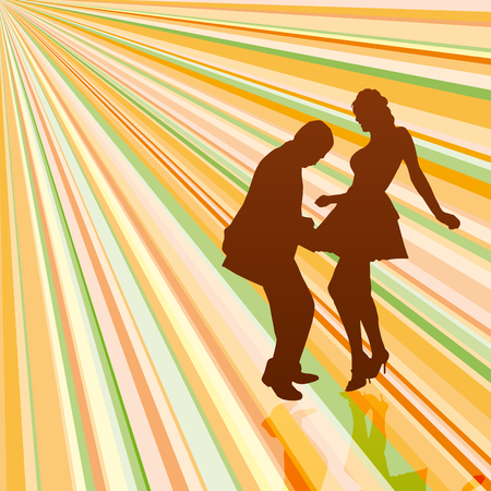 couple dancing: Vintage dancers background