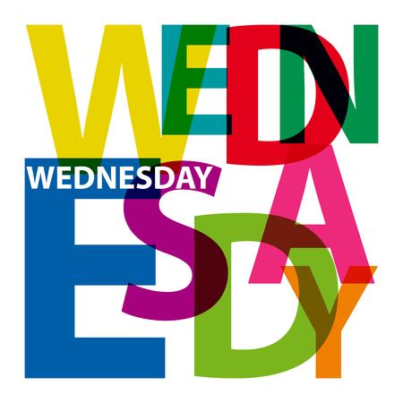 Vector wednesday. Broken text