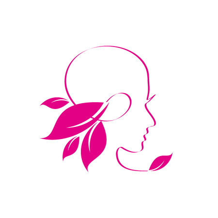 nature woman: Vector sign spa, yoga and relax