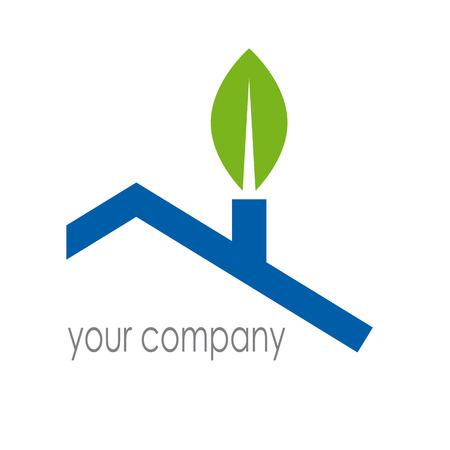 Znak wektora Eco House Ilustracje wektorowe