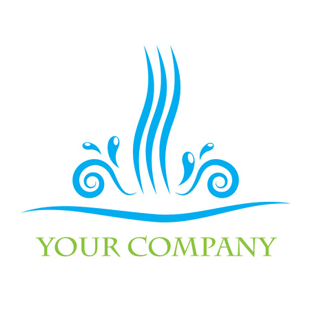 Vector sign water, concept of Spa and Beauty Farm