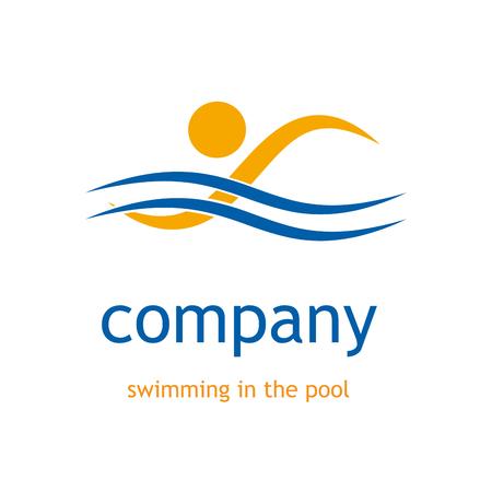 プールで泳いでベクトル記号