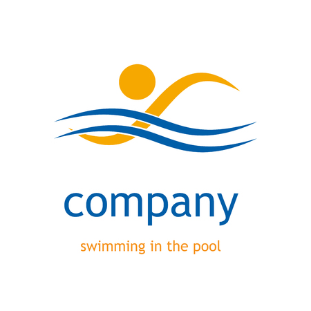 Vector sign swimming in the pool