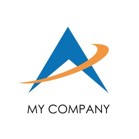 logos de empresas: Vector de la muestra la flecha hacia arriba, letra A