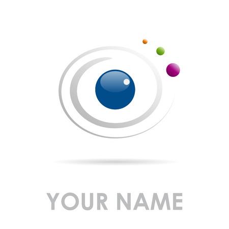 human eye: Vector sign eye in movement Illustration