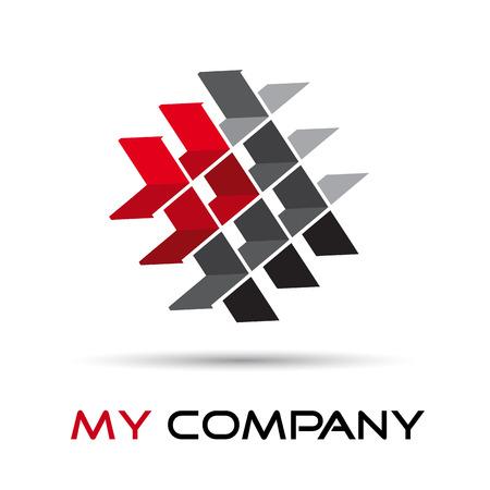 logotipo de construccion: Muestra del vector del concepto de empresa el trabajo en equipo