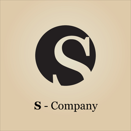 Vector sign initial letter S Vetores