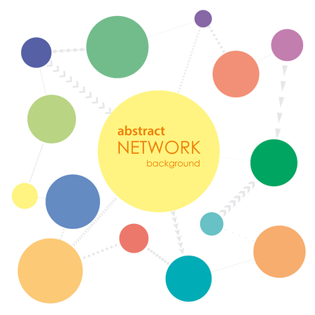 affiliation: Vector Abstract Network Background