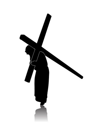Silhouette of the Passion of Christ Ilustracja