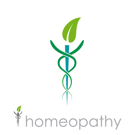 Vector sign homeopathy, alternative medicine Иллюстрация