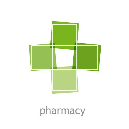 green cross: Vector sign pharmacy, green cross Illustration
