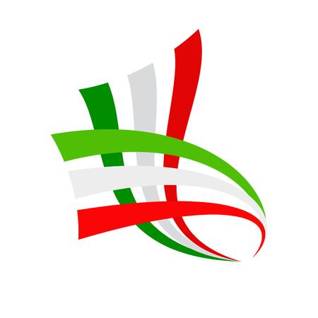 drapeau mexicain: Signe vecteur drapeau italien et mexicain abstrait