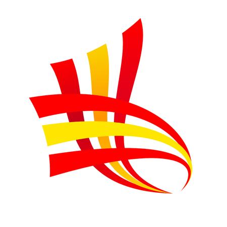 spanish flag: Vector sign abstract spanish flag Illustration