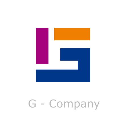 Signe vecteur lettre abstraite cassé G
