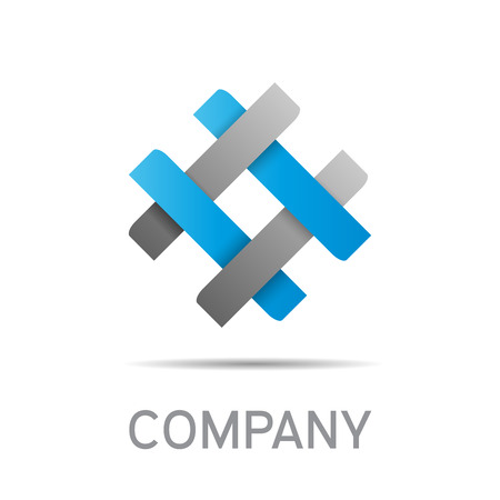 business group: Vector abstract sign concept of synergy and teamwork