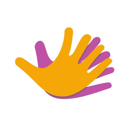 convergence: Vector sign Hands together for friendship Illustration