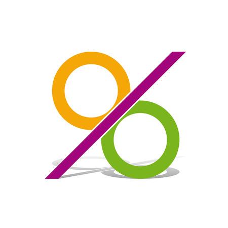 Vector segno percentuale astratto