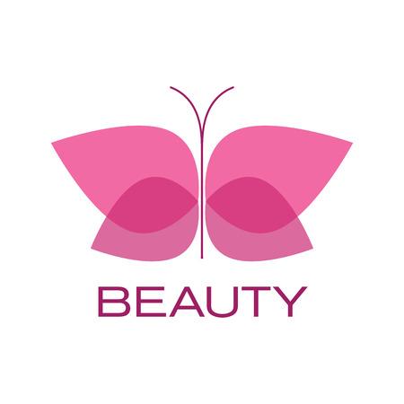 Vector segno farfalla. Spa, lo yoga e il concetto rilassarsi