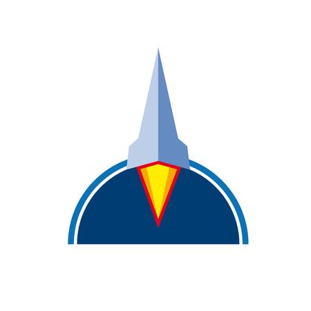 travel burner: Vector sign rocket