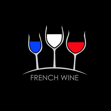 french wine: Vector sign french wine