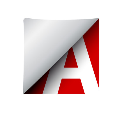 vector sign label letter A