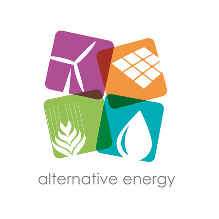 wind energy: Vector sign alternative energy