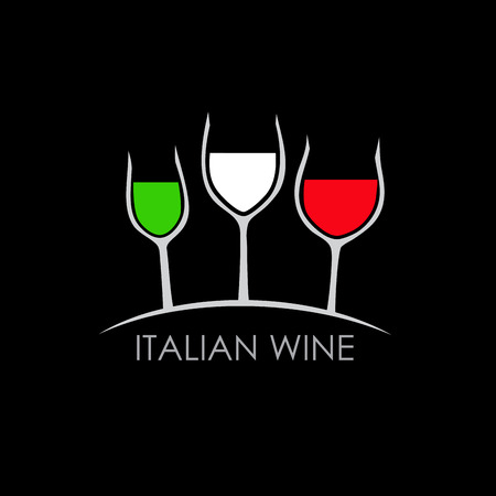 italy background: Vector sign italian wine Illustration