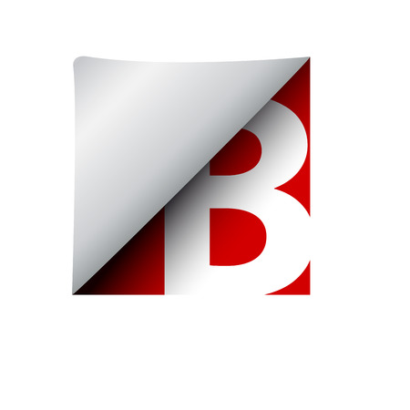 pasted: vector sign label letter B