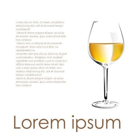 white wine: Vector white wine description Illustration