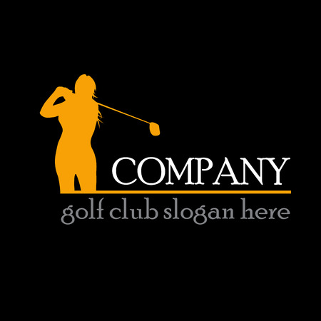 woman golf: sign woman play golf