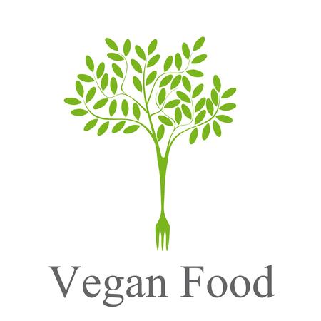 sign vegan tree