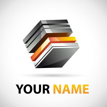 business sign: Vector sign Business design 3D