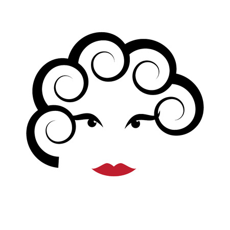 make up model: Vector sign abstract portrait of woman Illustration