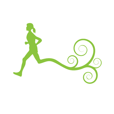 cross country: Vector sign cross country with curls Illustration