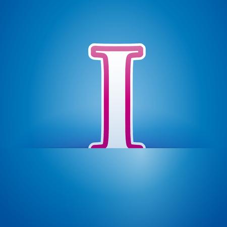 letter i: Vector sign pocket with letter I Illustration