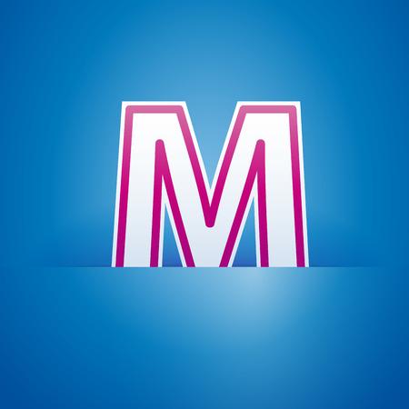 preservation: Vector sign pocket with letter M
