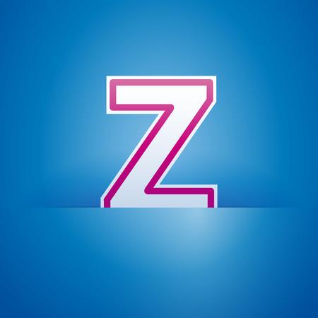 pocket: Vector sign pocket with letter Z