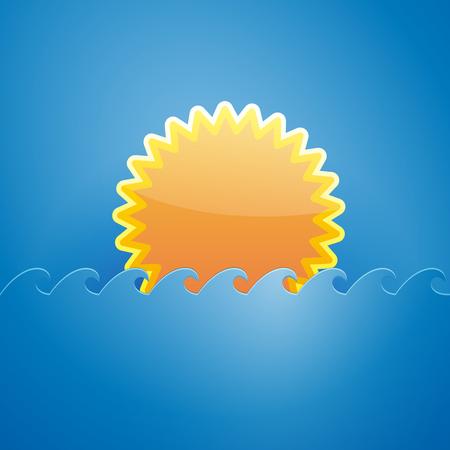 slit: Vector sign sun inside the pocket