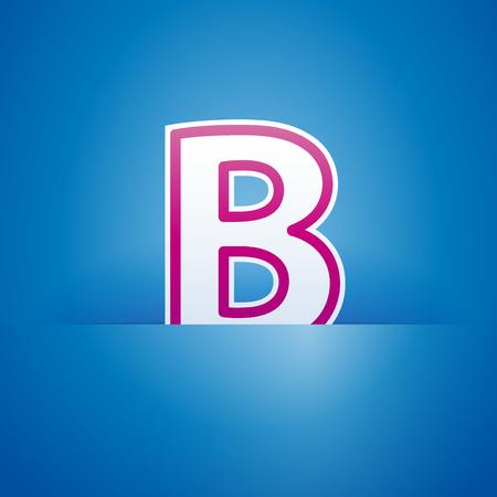 pocket: Vector sign pocket with letter B