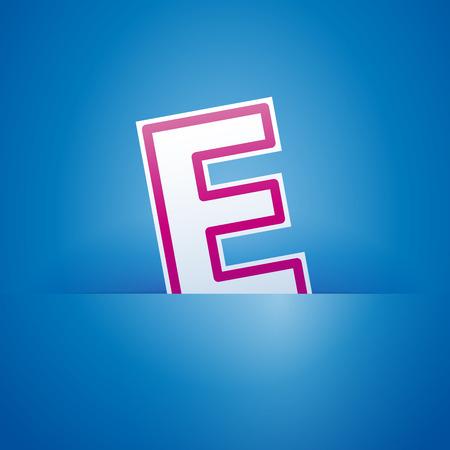 pocket: Vector sign pocket with letter E