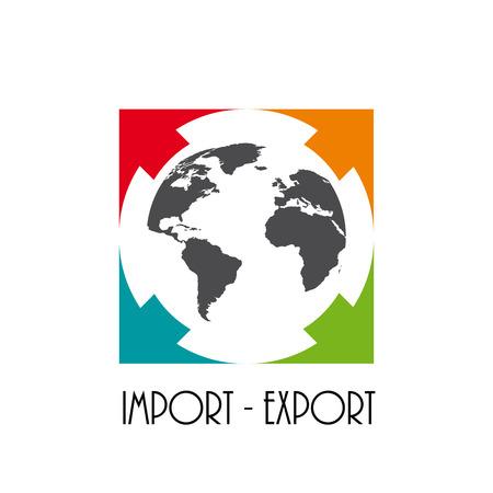 import trade: Vector sign import export