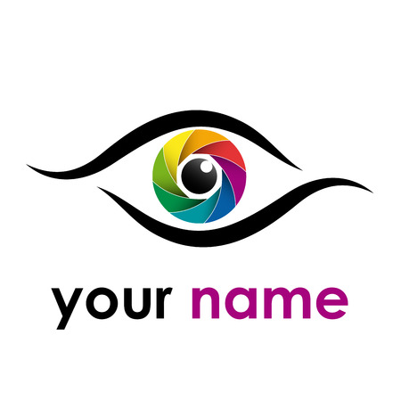 iris: Vector sign rainbow eye, iris
