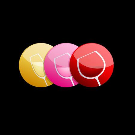 pinkish: Vector sign wine tasting