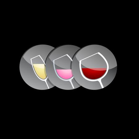Vecteur signe dégustation de vin
