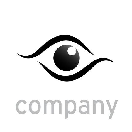 black eye: Vector sign black eye, iris Illustration