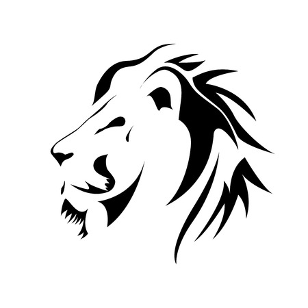 pompous: Vector sign black lion