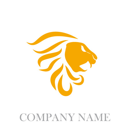 pompous: Vector sign orange lion