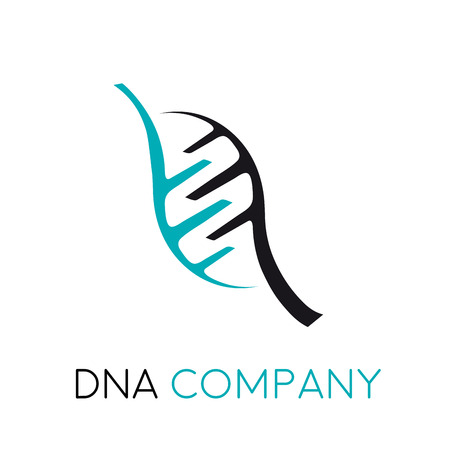 genetics: Vector sign DNA and genetics Illustration
