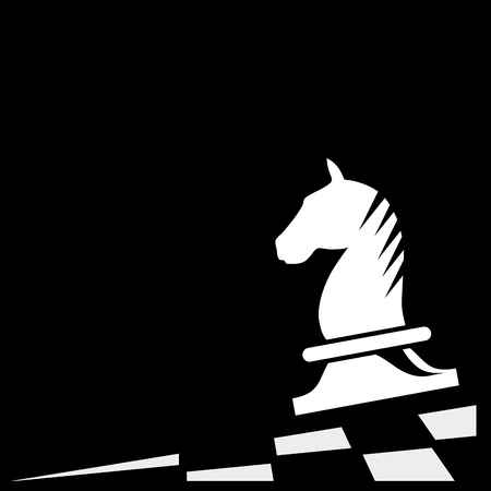 patience: Vector sign horse of chess